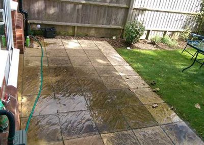 "Patio washing in Emmer Green ""before"""