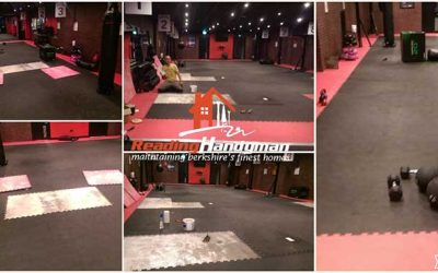 Commercial flooring fitting job in central Reading