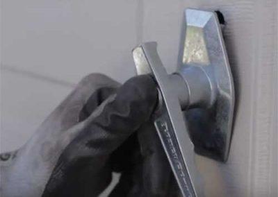 Garage door lock handle replacement in Reading