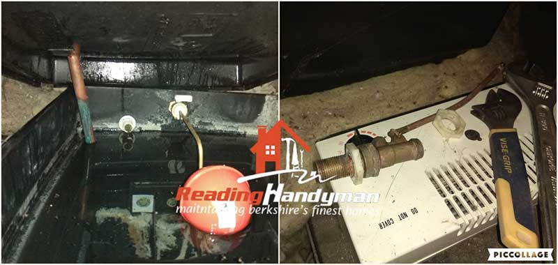 plumbing header tank valve replacement