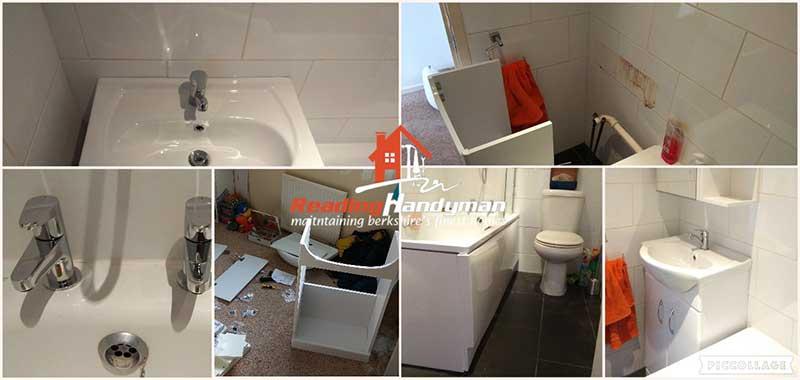 Vanity unit installation and bathroom improvements