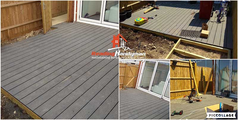 Composite Decking Area Installation