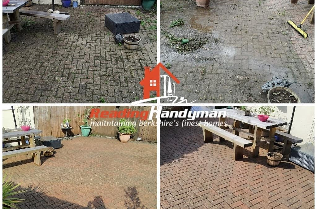Patio and driveway cleaned in Tilehurst, Reading