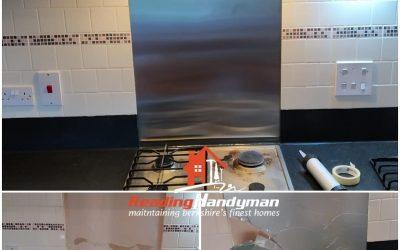 Broken Kitchen Splashback Replaced