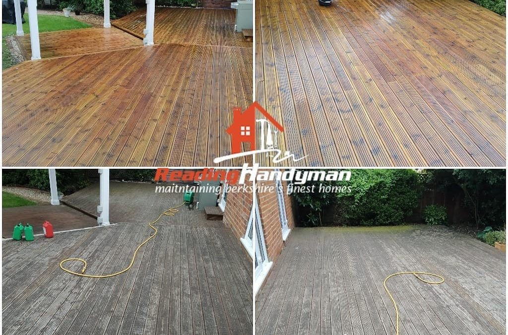 Decking cleaning and stripping in Mortimer
