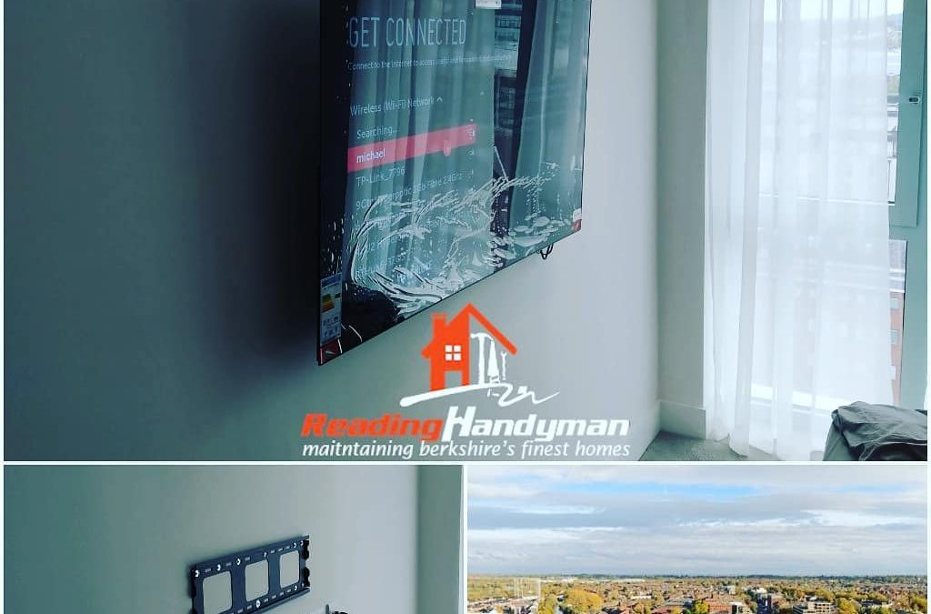 TV Wall Mounting in Reading's tallest residential building