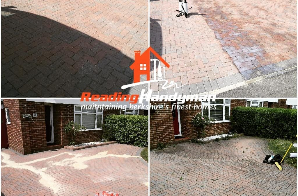 Driveway washed, re-sanded and sealed in Twyford