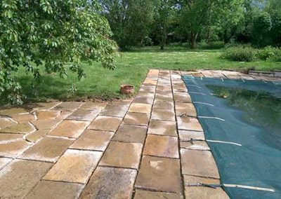 """Patio area pressure washed """"after"""""""