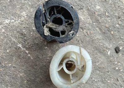 Broken garage door cones