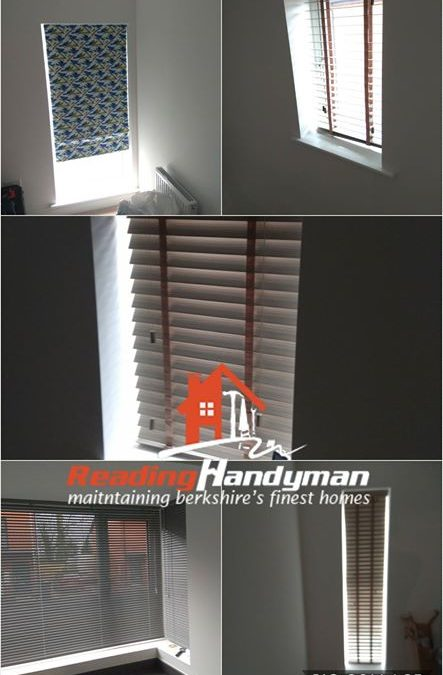 Third blinds fitting job in the same street in Reading