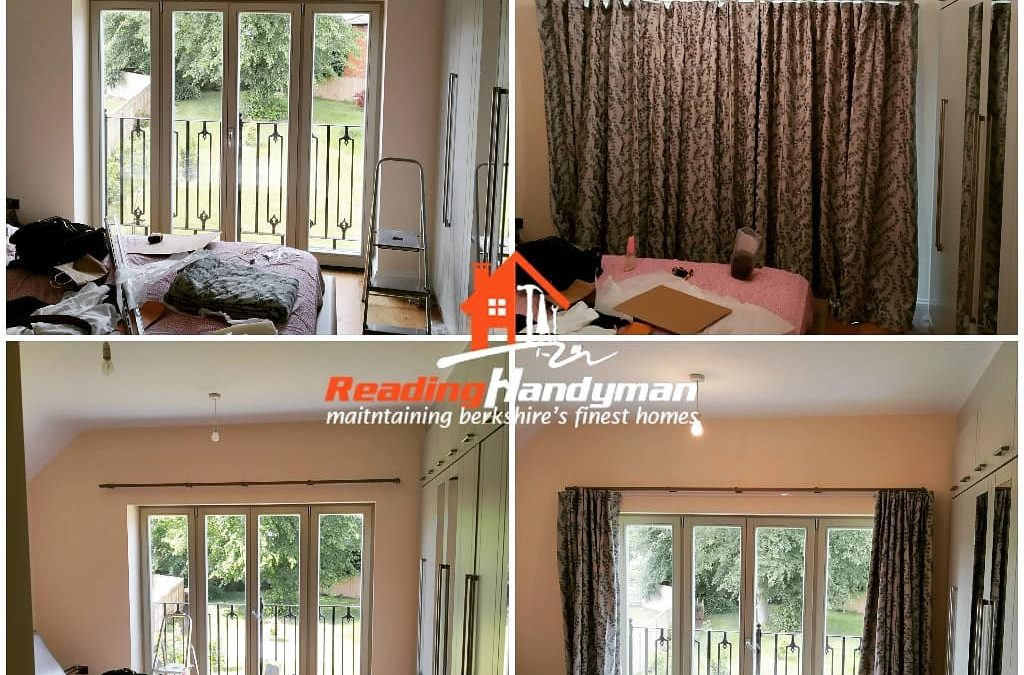 Designer curtains and tracks fitted in Peppard Common