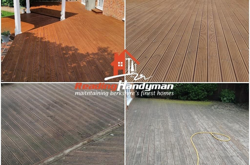 Decking area from last week after staining results