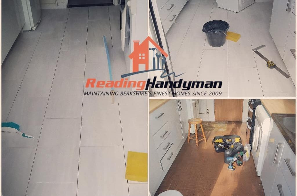 Kitchen tiling job in Calcot, Reading