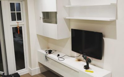TV and Entertainent Cabinets Wall Mounted in Green Park Village