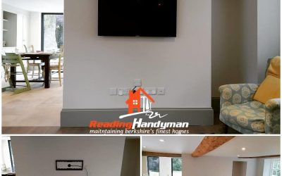 TV mounting with concealed cables