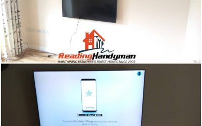Two TVs wall mounted in Reading