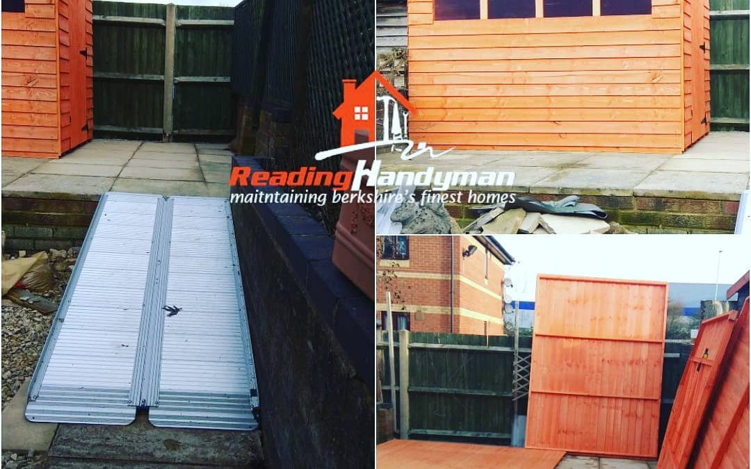 Wooden shed assembly in West Reading