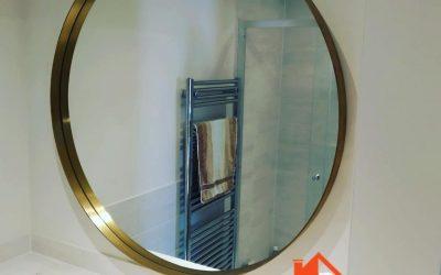 Heavy brass mirror hanged in Reading