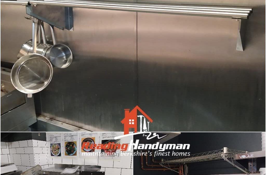 Heavy duty stainless steel shelves installed in Caversham