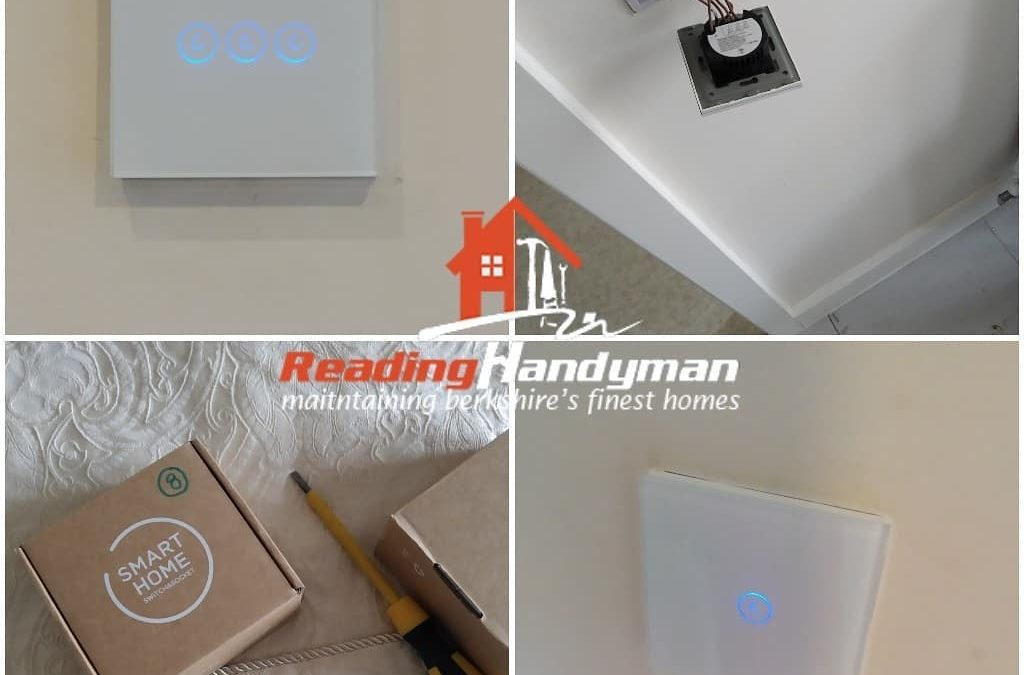 6 smart switches + Ring floodlight / camera installed in Whitley
