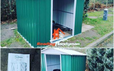 YardMaster metal shed assembly