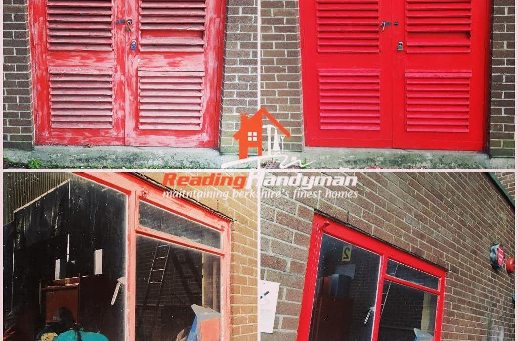 External Door Painted in Reading