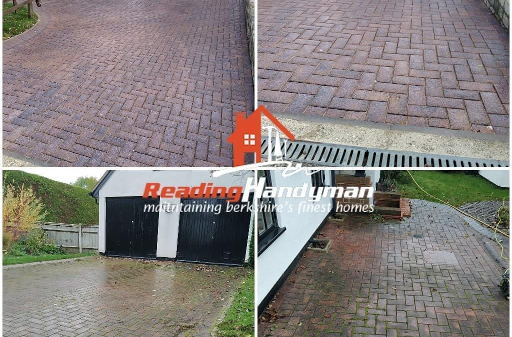 Driveway in Caversham Cleaned, Re-sanded and Sealed