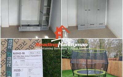 Trampoline and wardrobe assembled in Shiplake