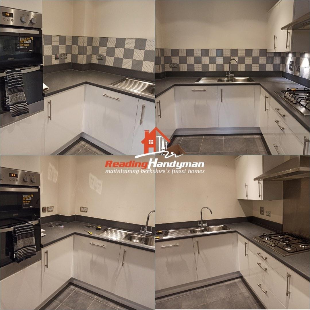Kitchen splashback tiling