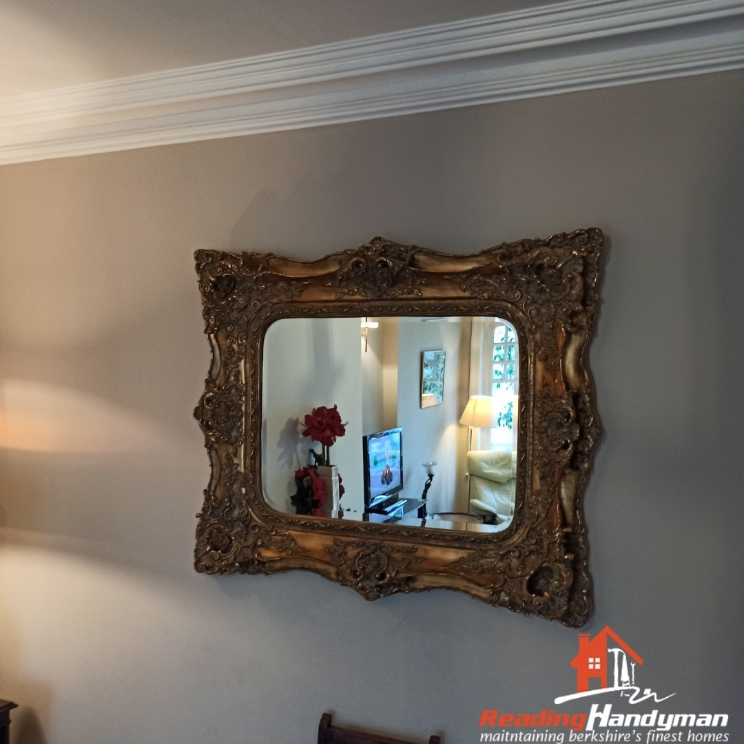 Amazing looking mirror frame hanged in Maidenhead