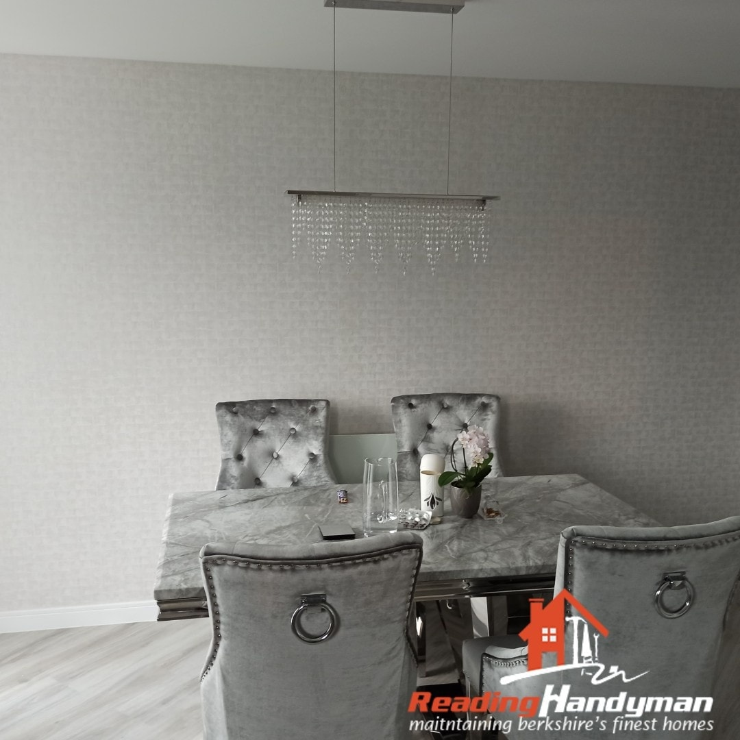 Feature wall wallpapered in Reading
