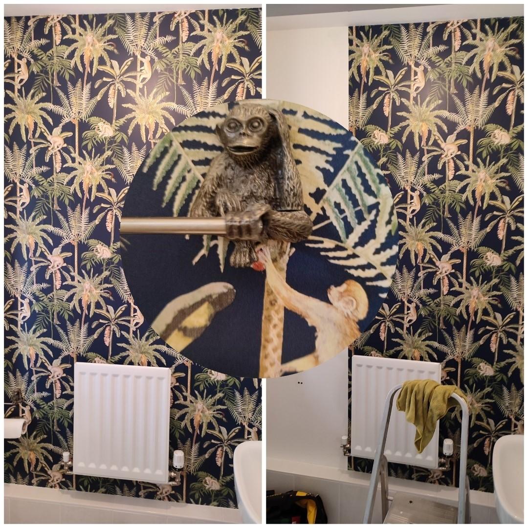 Wallpapering job in Arborfield