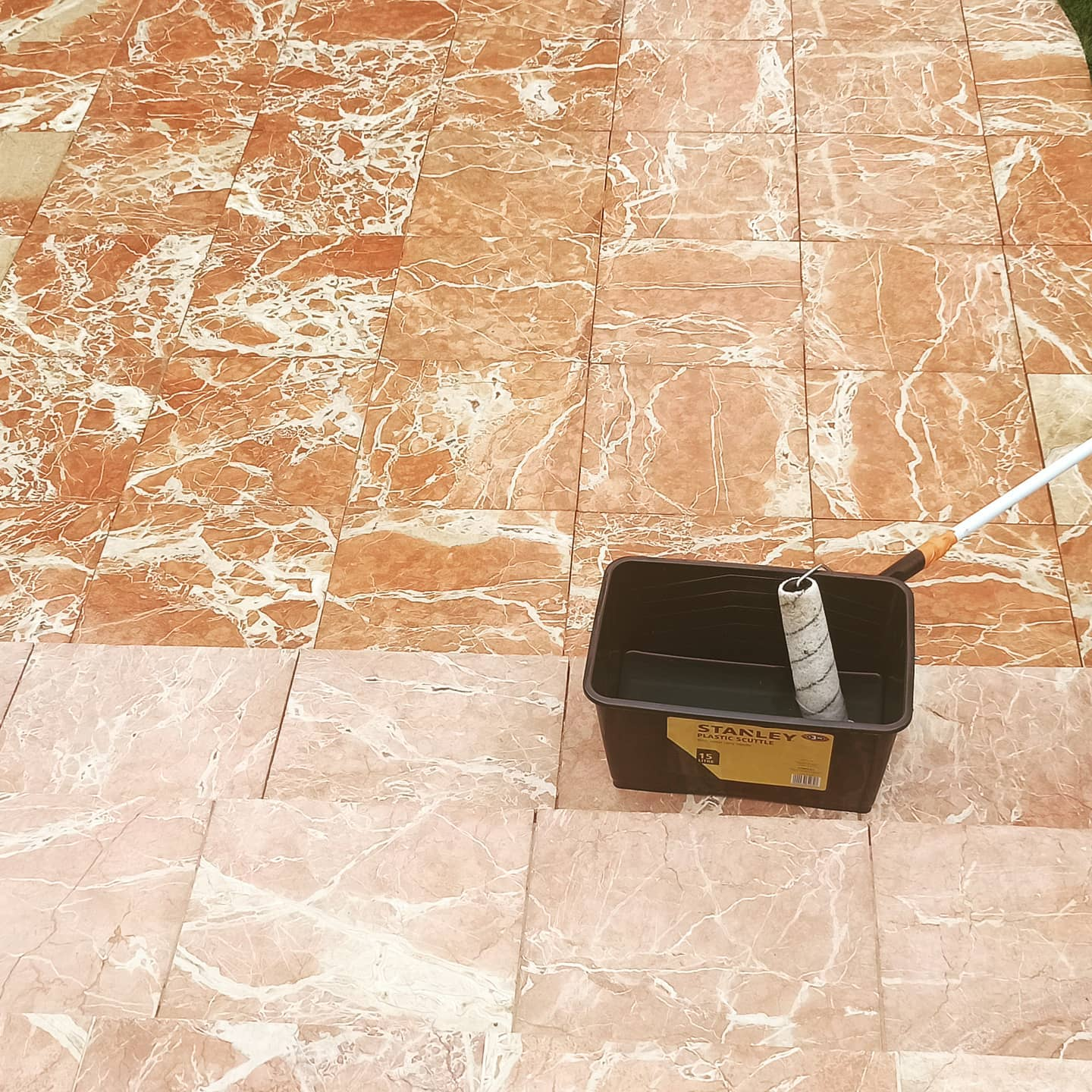 Marble patio washed and sealed in Newbury