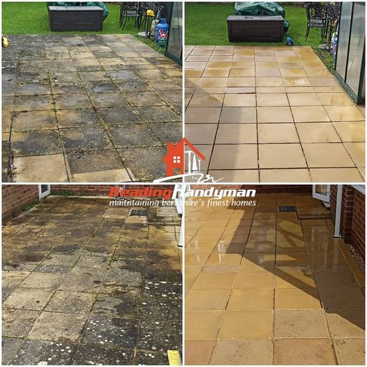 Another patio cleaning job in Caversham