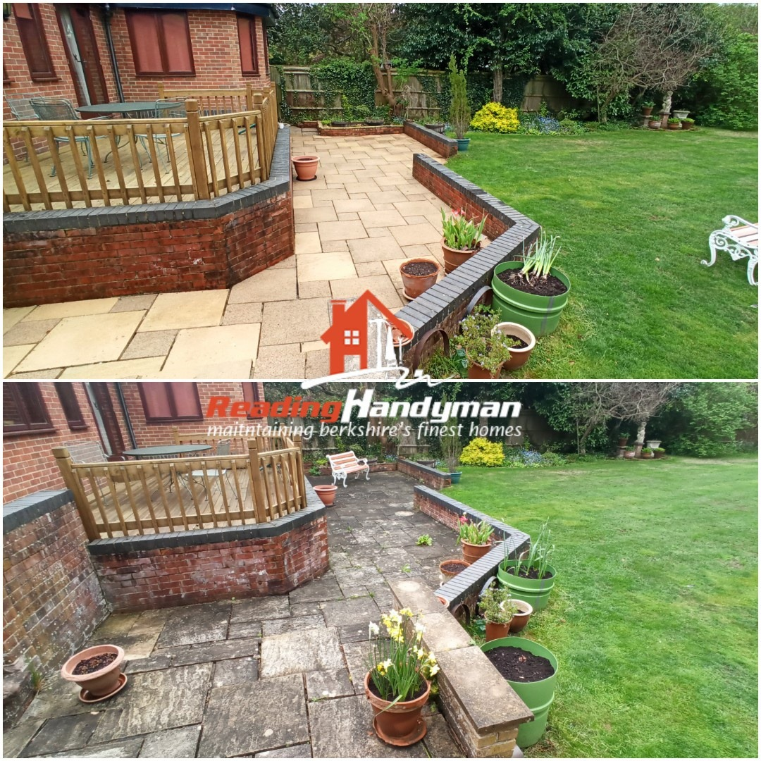 Patio cleaned in Caversham for one of our regular clients