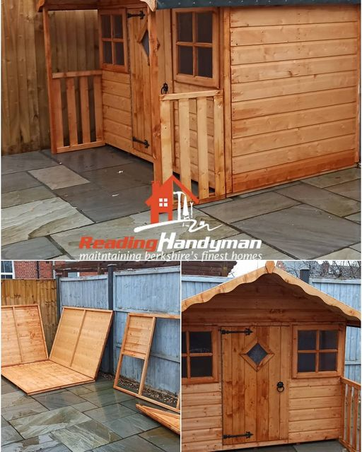 Wendy house assembled in Caversham, Reading