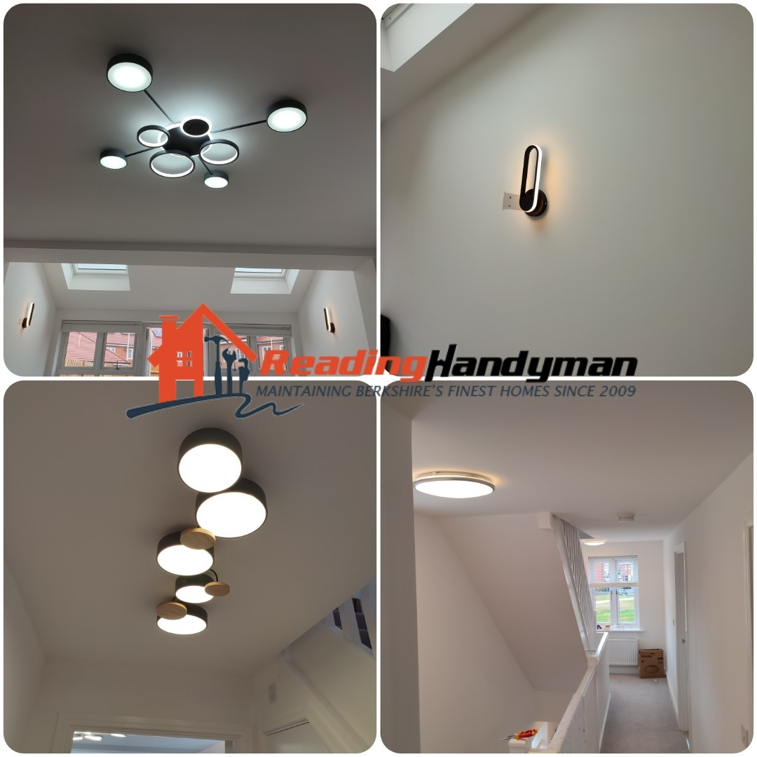 13 new ceiling and wall lights installed in Woodley